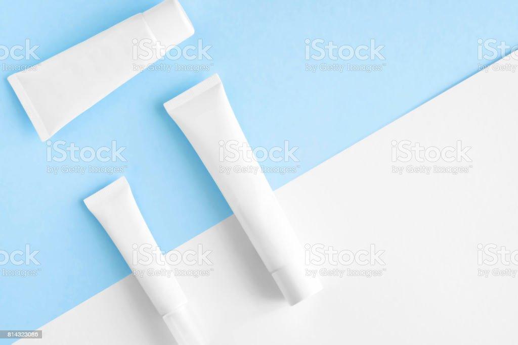 SPA cosmetics branding mock up stock photo