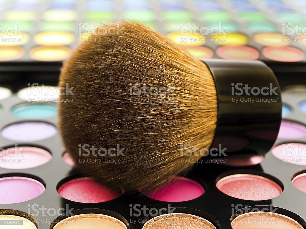 cosmetics brush royalty-free stock photo