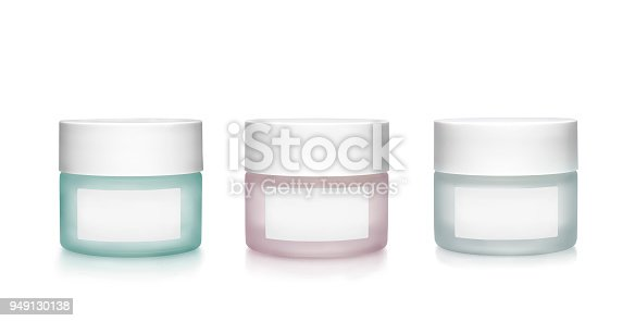 istock Cosmetics containers with blank labels 949130138