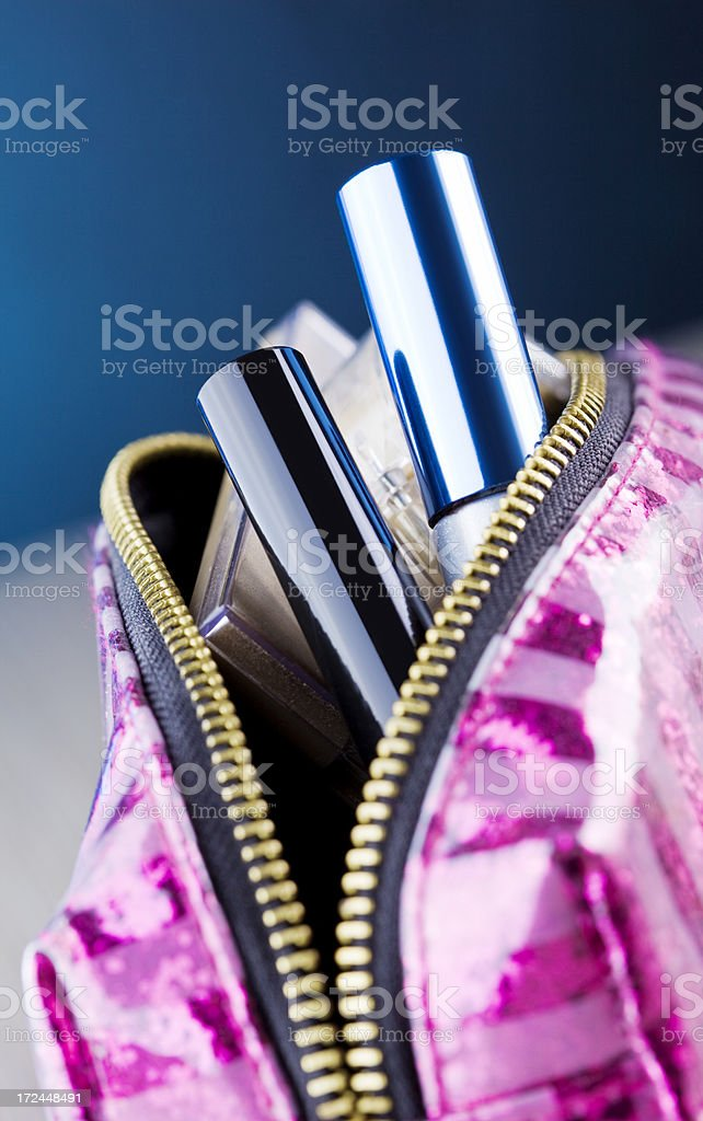 Cosmetics in a bag stock photo