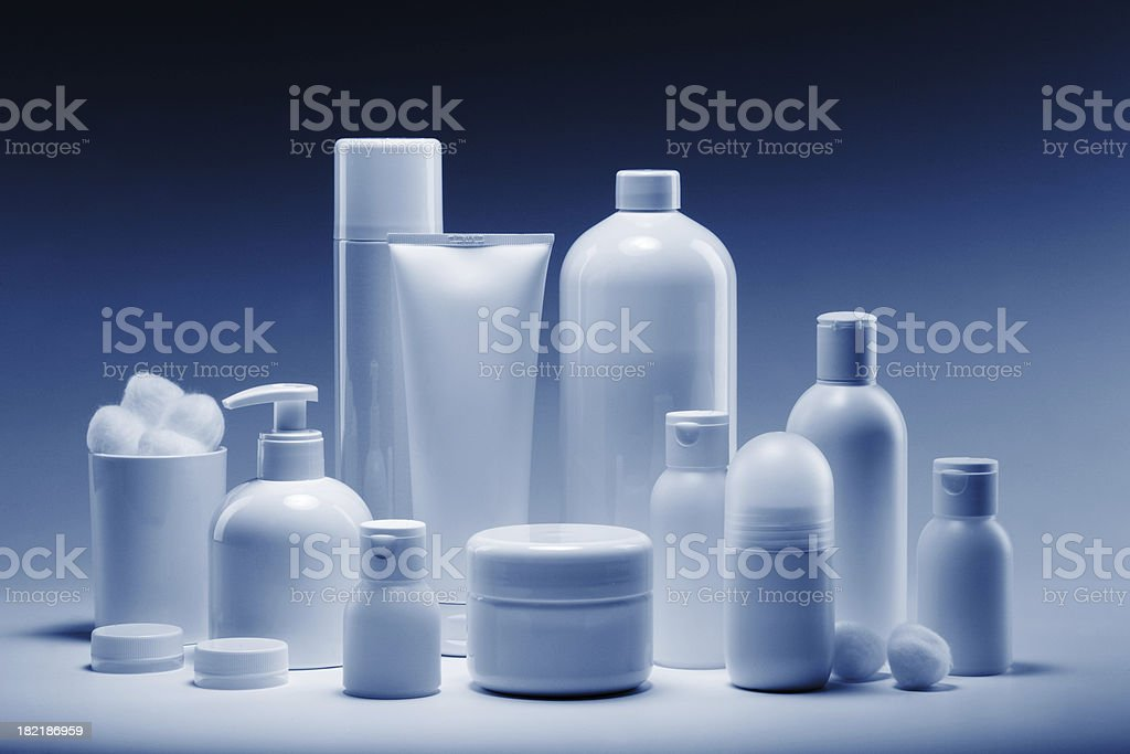cosmetics in a row royalty-free stock photo