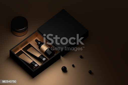 istock Cosmetics in black and golden box 982540750