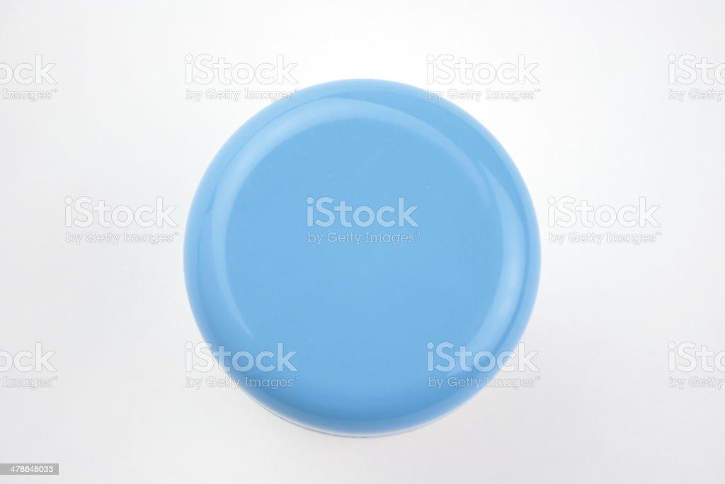 Cosmetics jar stock photo