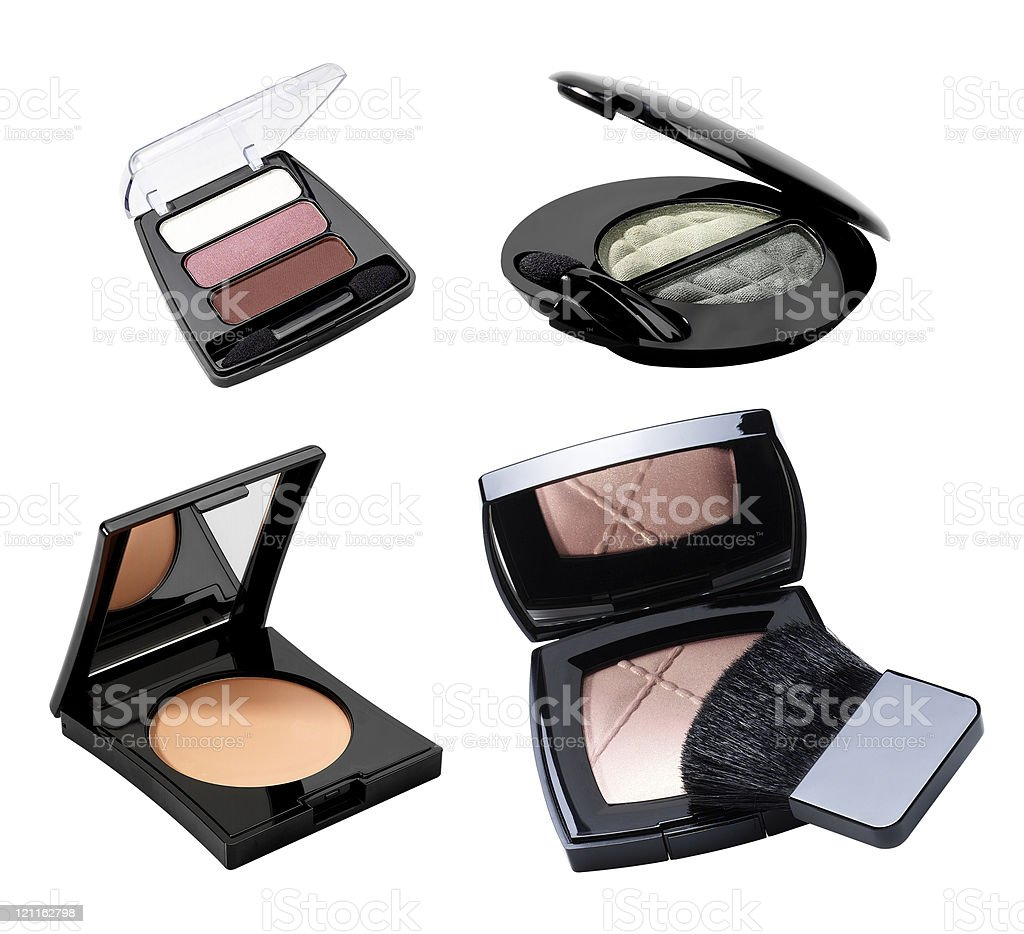 Cosmetics. Makeup accessories. royalty-free stock photo