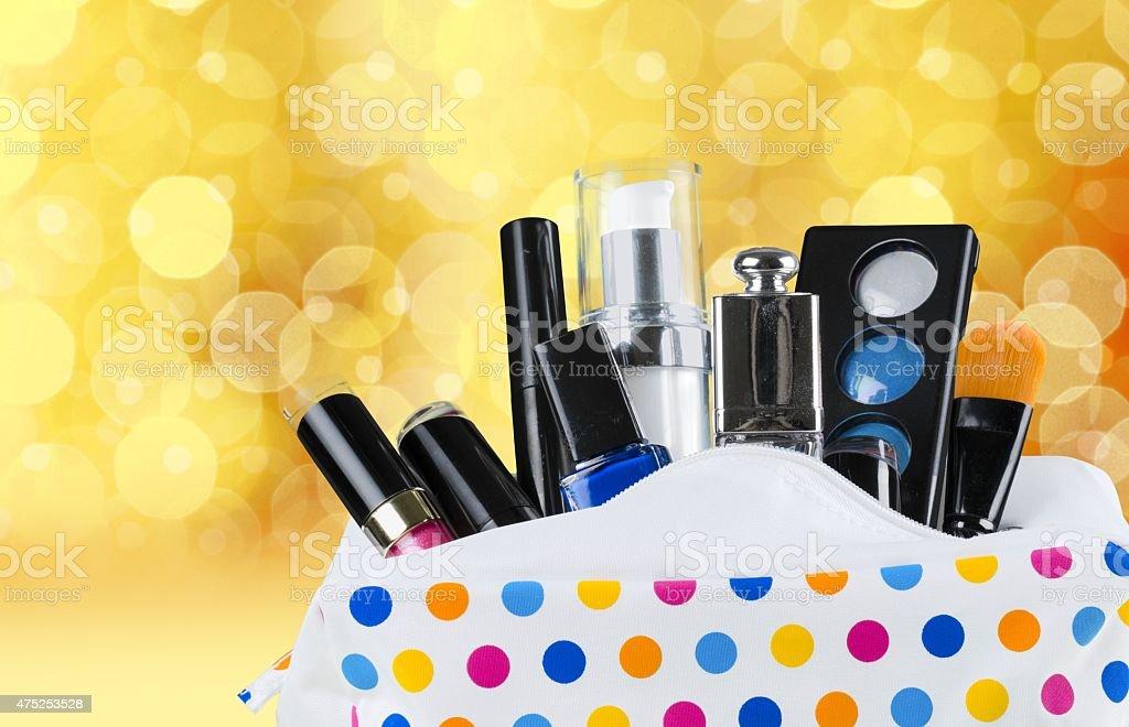 Cosmetics, Makeup Bag, Bag stock photo