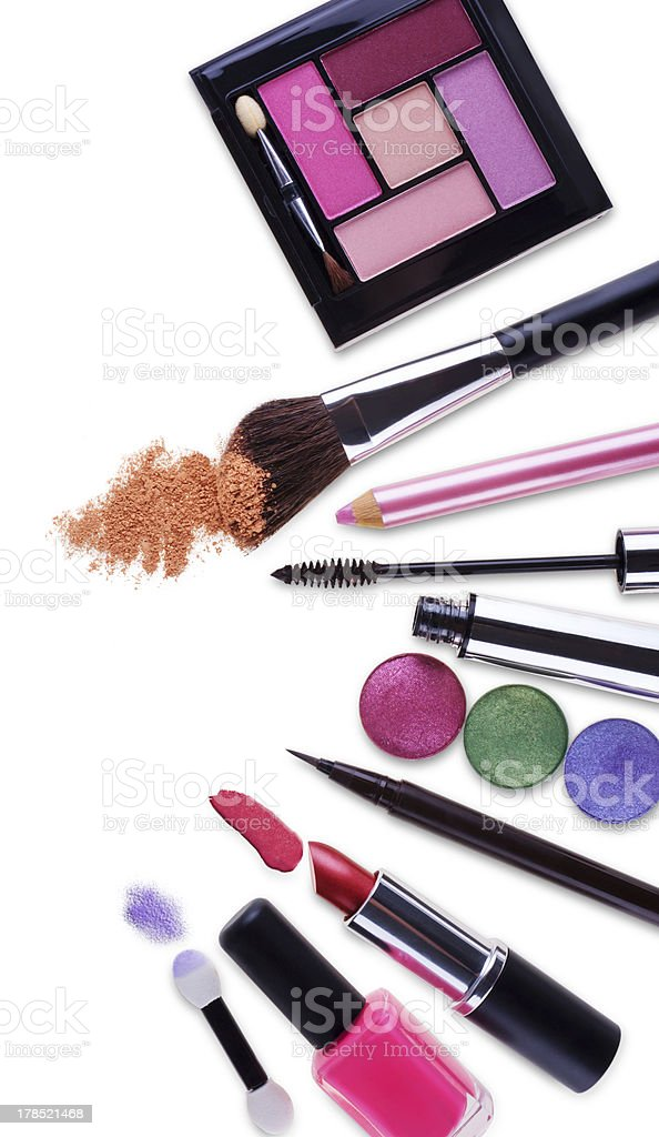 Cosmetics makeup set royalty-free stock photo