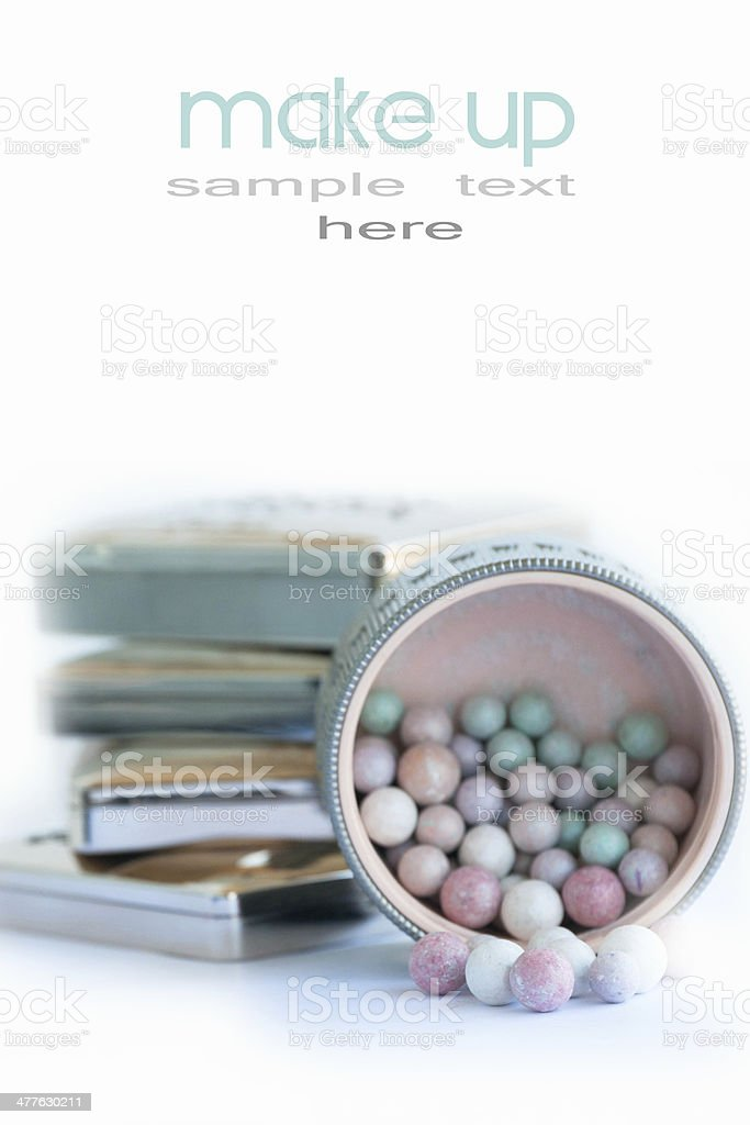 cosmetics multicolor rouge balls royalty-free stock photo