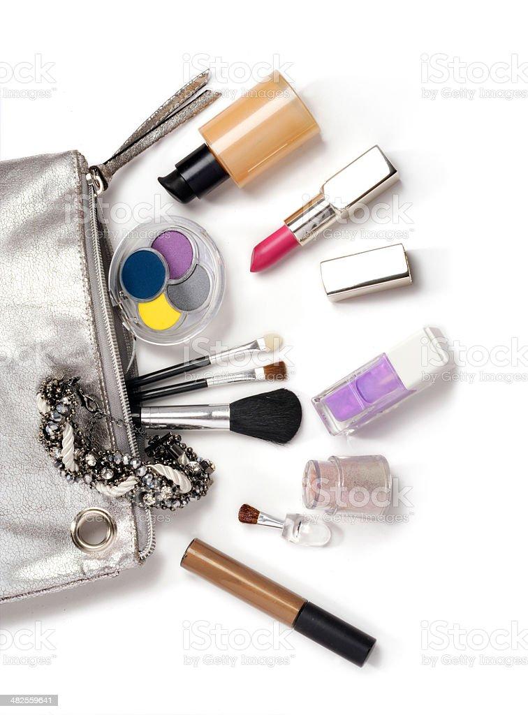 cosmetics on white stock photo
