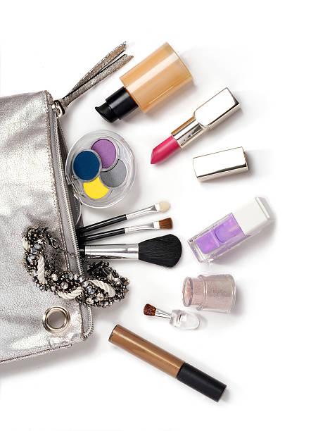 Cosmetici su bianco - foto stock