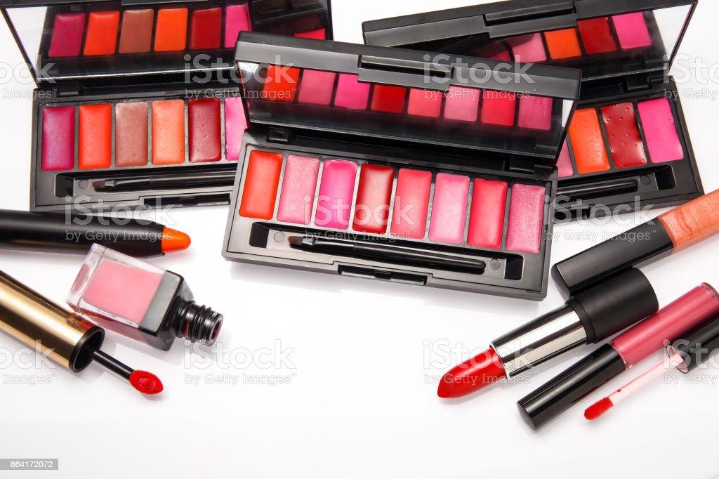Cosmetics set isolated on white royalty-free stock photo