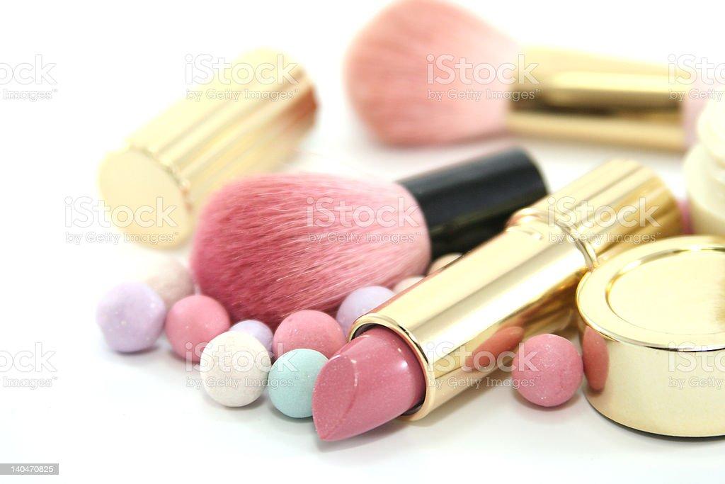 Cosmetics set royalty-free stock photo