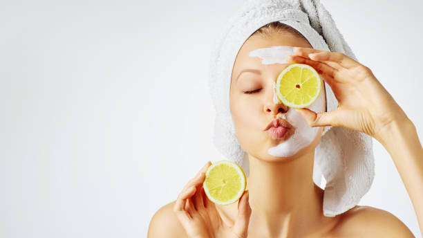 Cosmetology, skin care, face treatment, spa and natural beauty concept stock photo