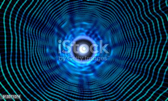 istock Cosmic Black Hole On Space 913371074