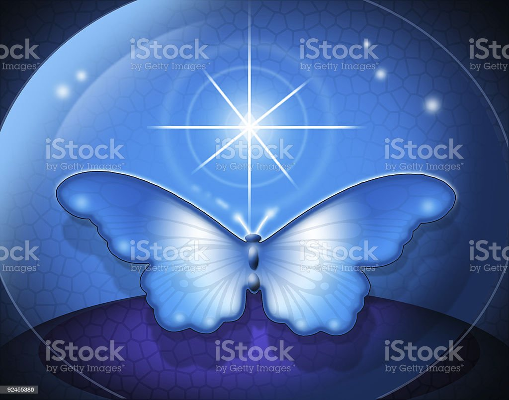 Cosmic Butterfly royalty-free stock photo