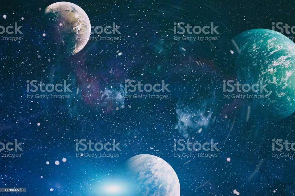 Cosmic Galaxy Background With Nebula Stardust And Bright Shining