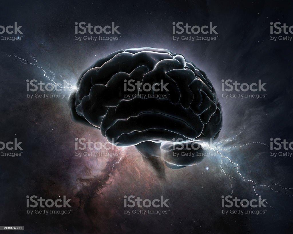 Cosmic Intelligence - Brain in universe foto