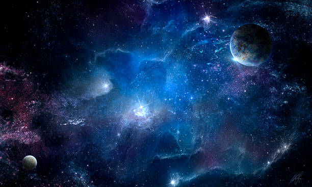 Cosmic nebula and the shining stars Cosmic nebula and the shining stars, abstract space illustration planet space stock pictures, royalty-free photos & images