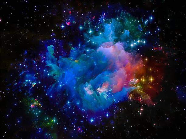 Nebulosa cósmica - foto de acervo