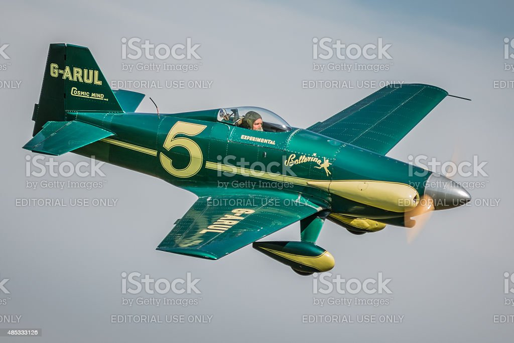 Cosmic Wind - vintage racing aircraft stock photo