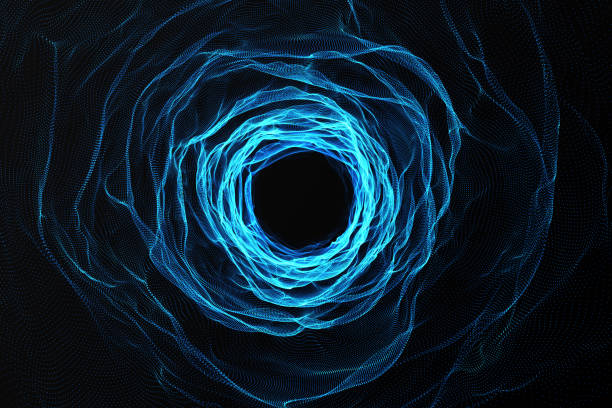 kosmiska maskhål, utrymme resor koncept, trattformad tunnel som kan ansluta ett universum med en annan. 3d-rendering - teleport bildbanksfoton och bilder