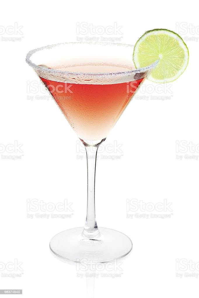 Cosmopolitan alcohol cocktail royalty-free stock photo