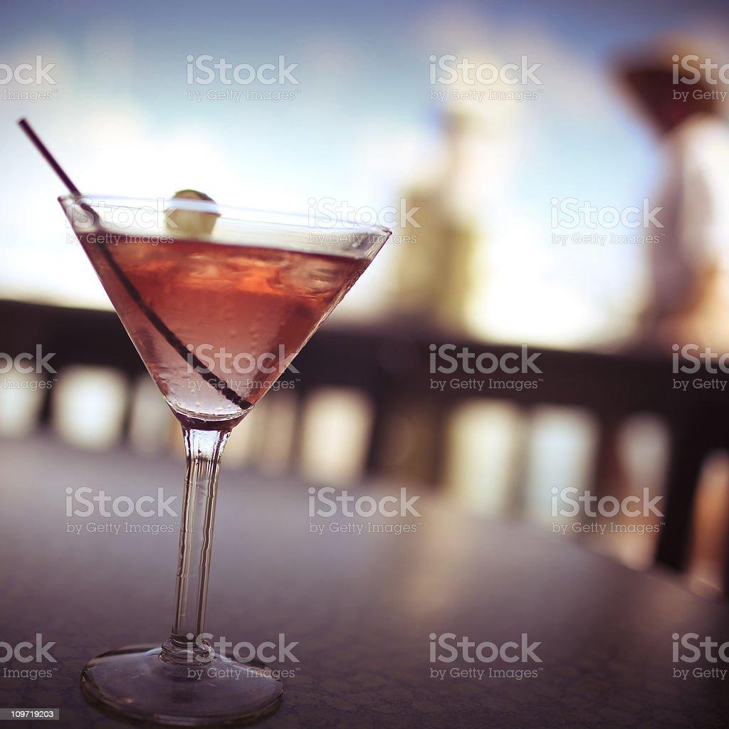 Cosmopolitan Martini royalty-free stock photo