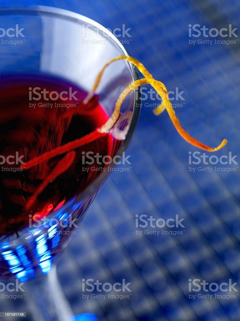 Cosmopolitian Martini with Orange Zest royalty-free stock photo