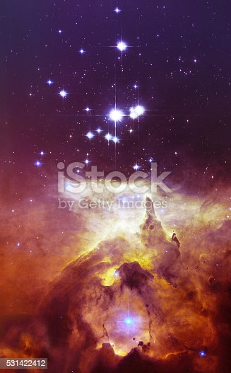 istock Cosmos space stars nebula. Elements of image furnished by NASA. 531422412