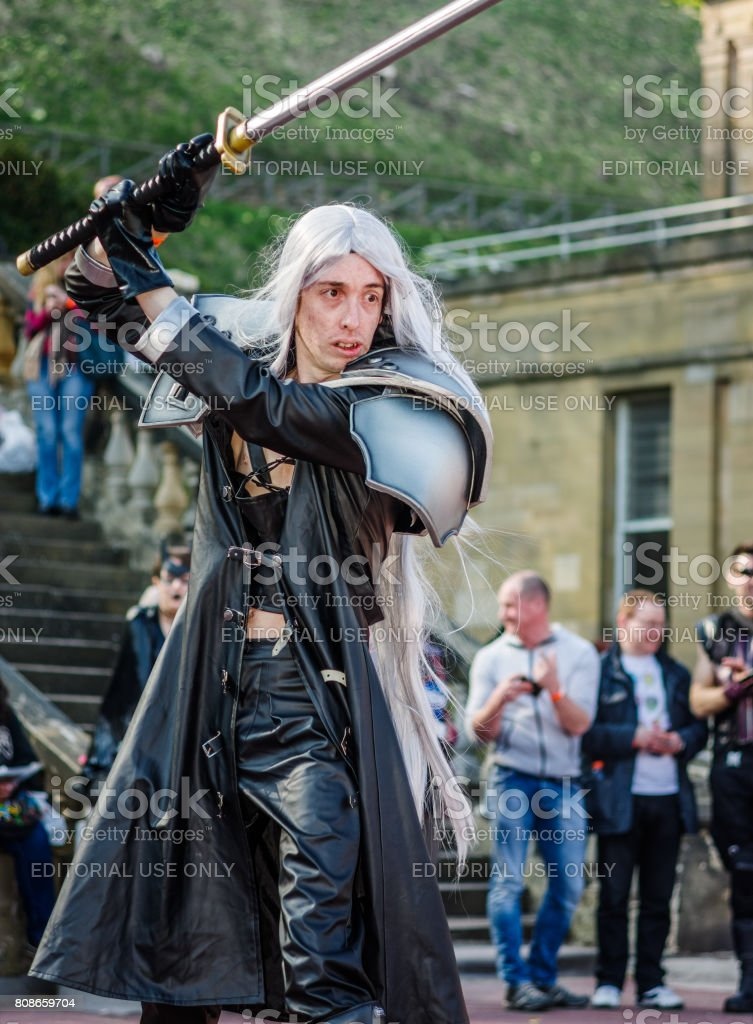 Cosplay As Sephiroth From Final Fantasy Stock Photo