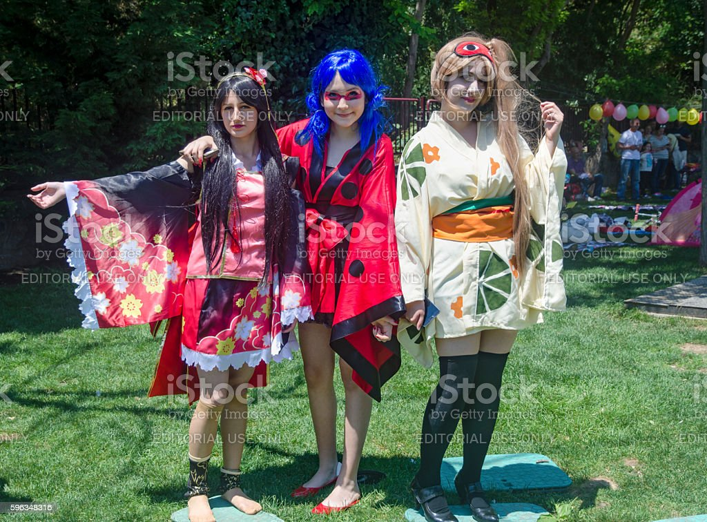 Cosplay  Asian Day Activity in Istanbul royalty-free stock photo