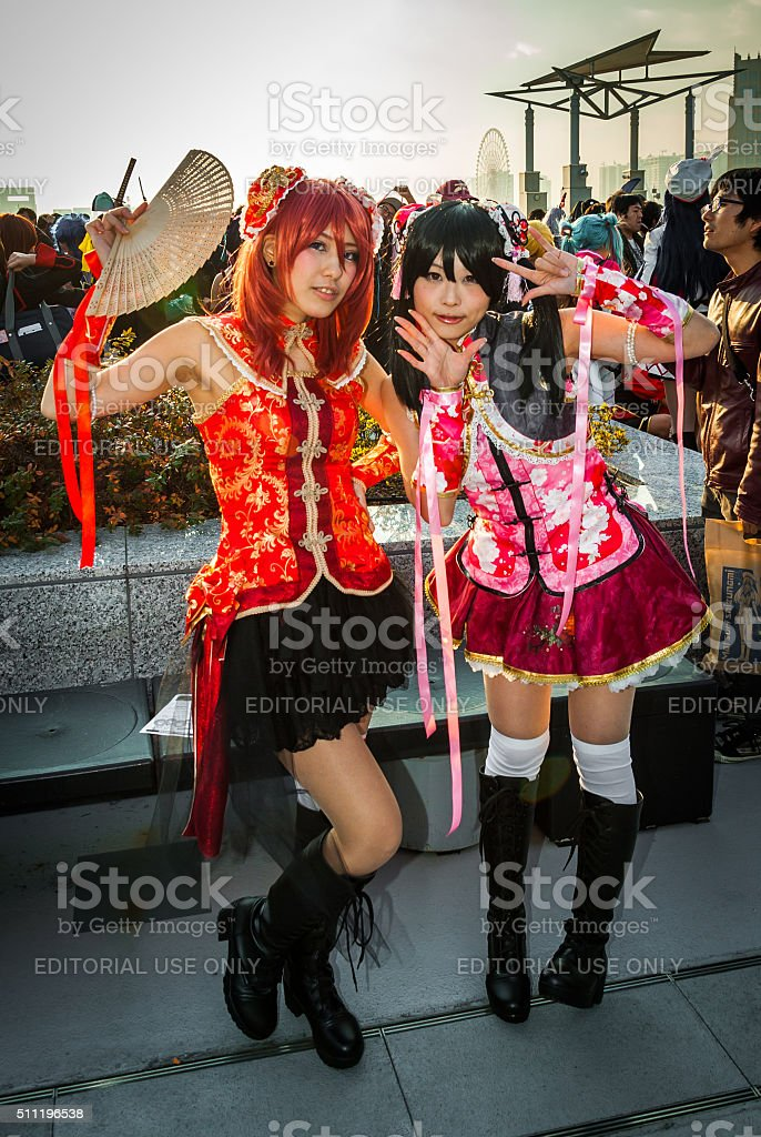 Cosplay girls in Tokyo stock photo