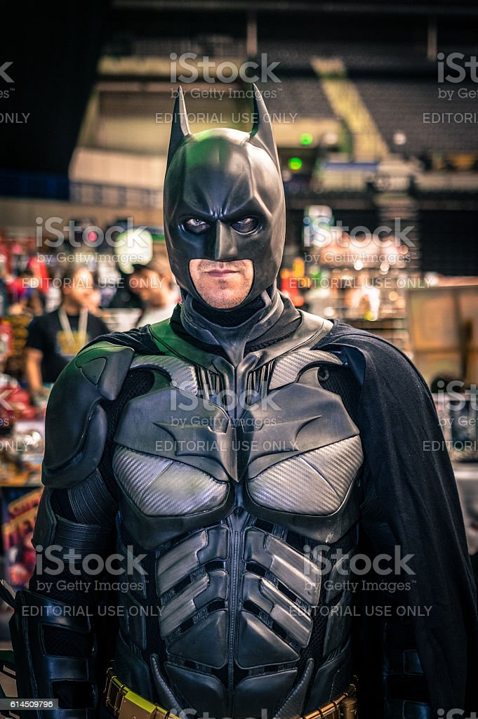 Cosplayer dressed as 'Batman' stock photo