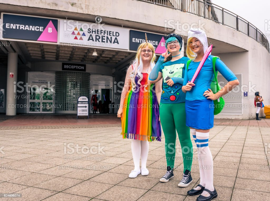 Cosplayers at the Yorkshire Cosplay Convention stock photo