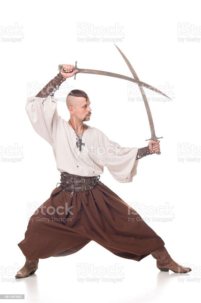 Cossack isolated stock photo