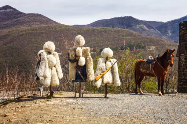 コサックの制服チェルケス。dzhigits 男の衣装 - chokha の白人の国民服 - クラスノダール市 ストックフォトと画像