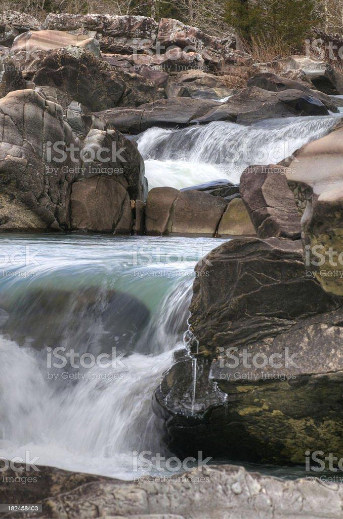 Cossatot Falls, Arkansas foto royalty-free