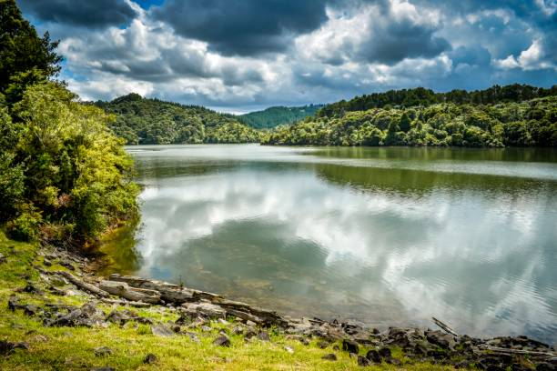 Cossey Reservior, Hunua Ranges Auckland New Zealand stock photo