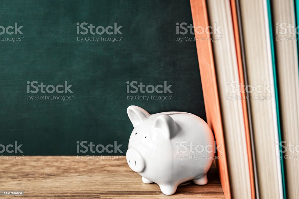 Cost and accumulation for education stock photo