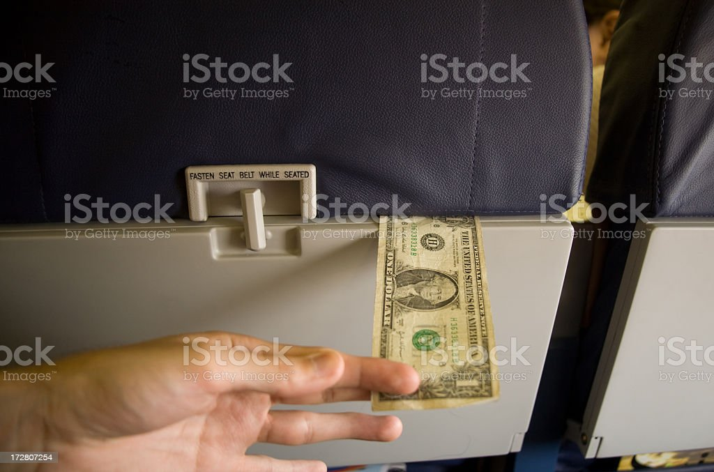 Cost of Air Travel royalty-free stock photo