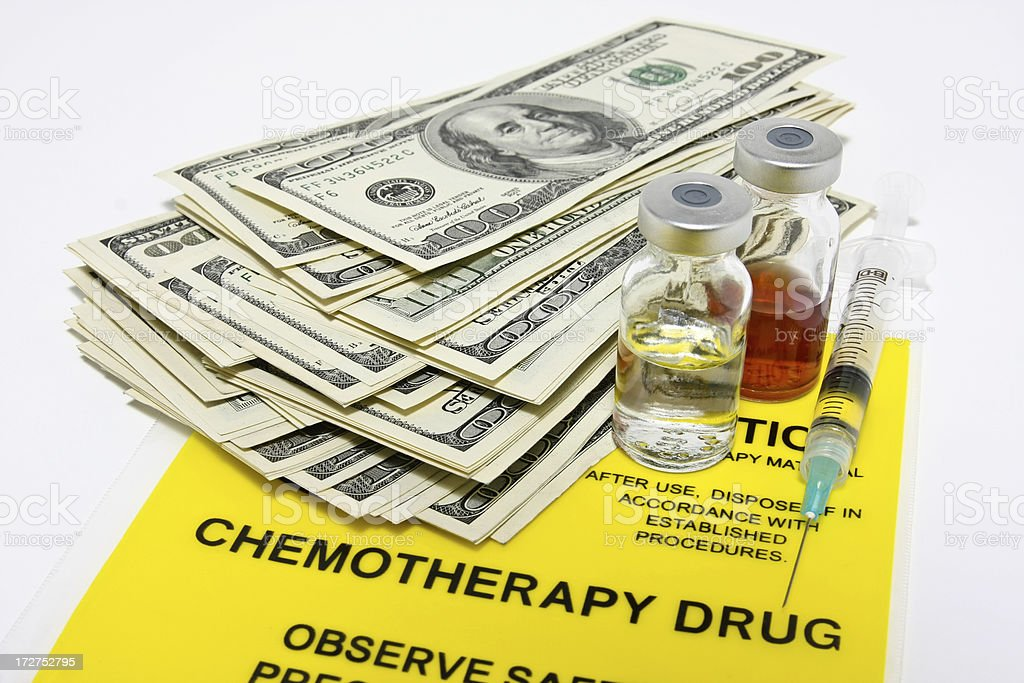 Cost of chemotherapy royalty-free stock photo