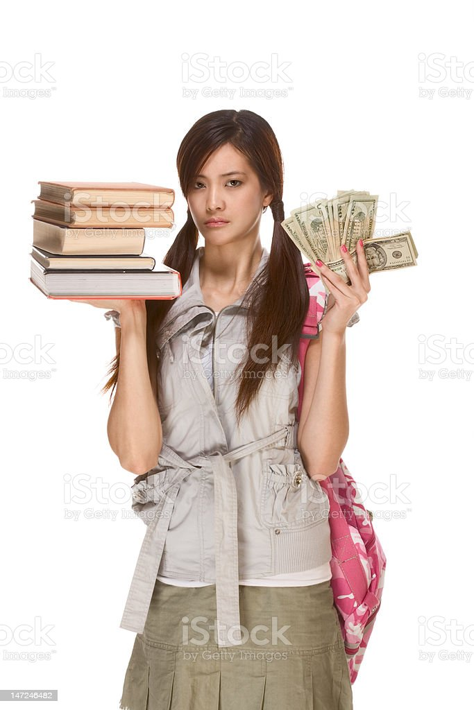 Cost of education is serious problem royalty-free stock photo