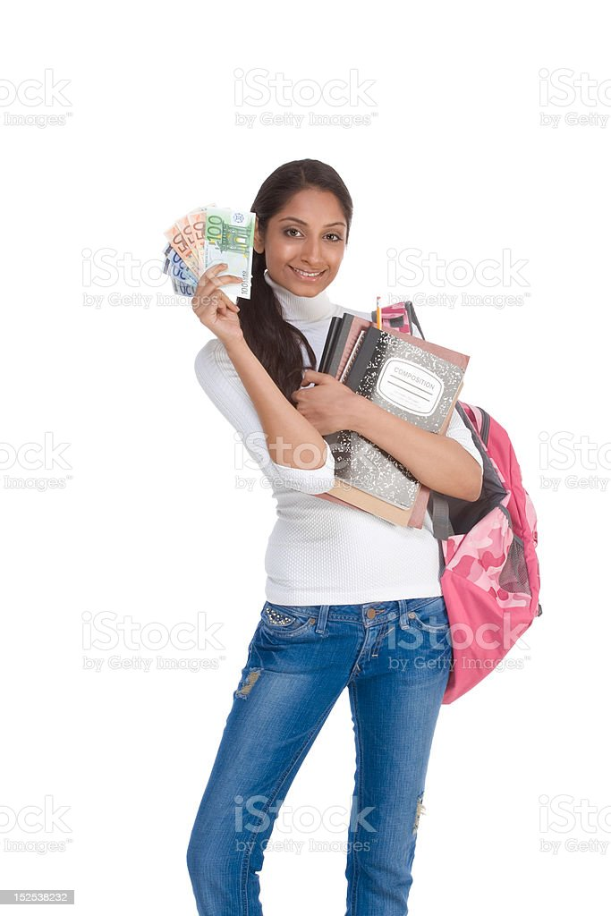 Cost of education student loan and financial aid stock photo