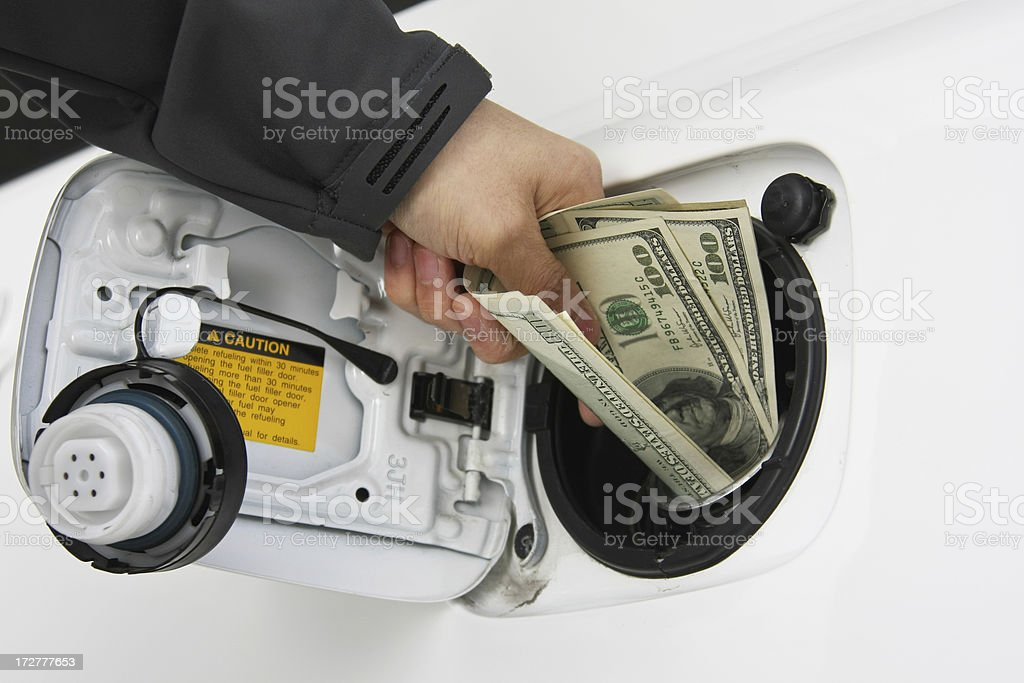 Cost of fuel royalty-free stock photo