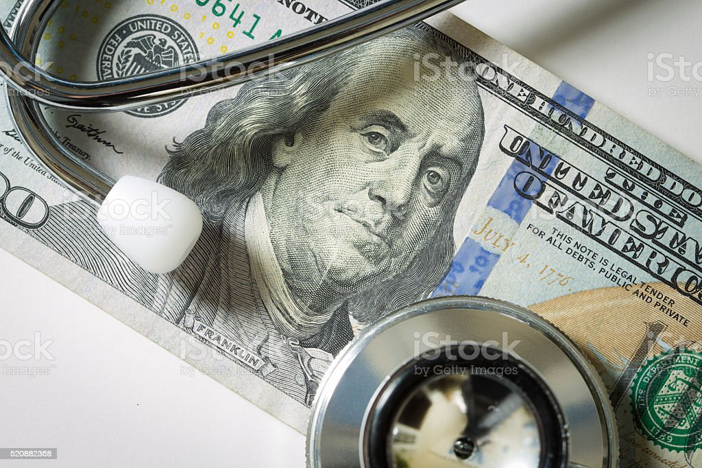 Cost of Healthcare and Insurance stock photo