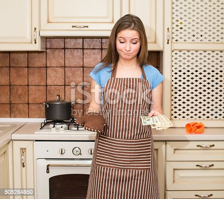istock Cost of living, price of eating, food budget concept. 505264650