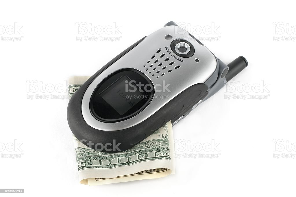 Cost of running a cell phone royalty-free stock photo