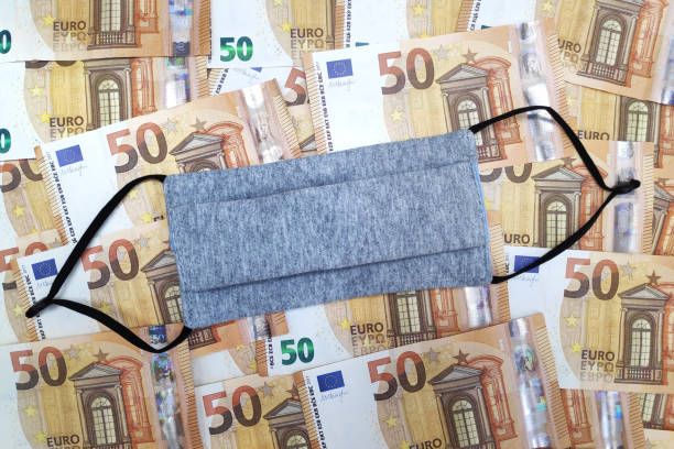Cost of the COVID-19 pandemic on the European economy stock photo