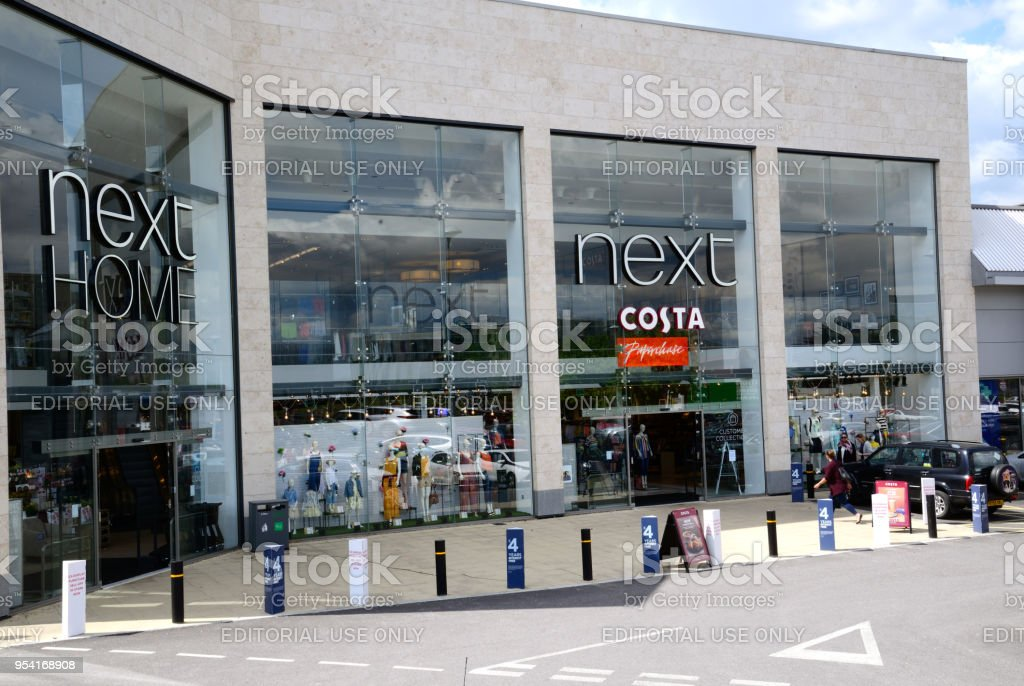 Costa and Next store stock photo