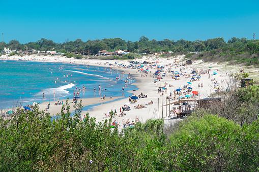 Costa Azul Beach Aerial, Canelones, Uruguay