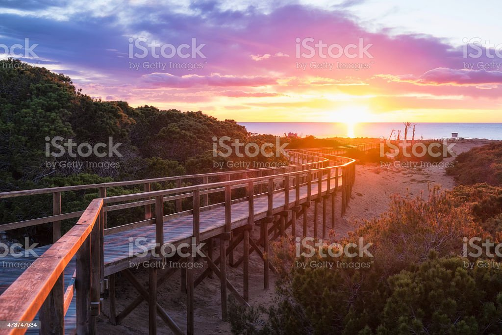 Costa Blanca sunrise stock photo